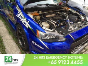24 Hour Mobile Car Battery Replacement Service Singapore Mitsubishi Evo 10